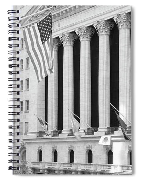Facade Of New York Stock Exchange, Manhattan, New York City, New York State, Usa Spiral Notebook