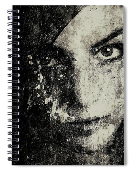Face In A Dream Grayscale Spiral Notebook