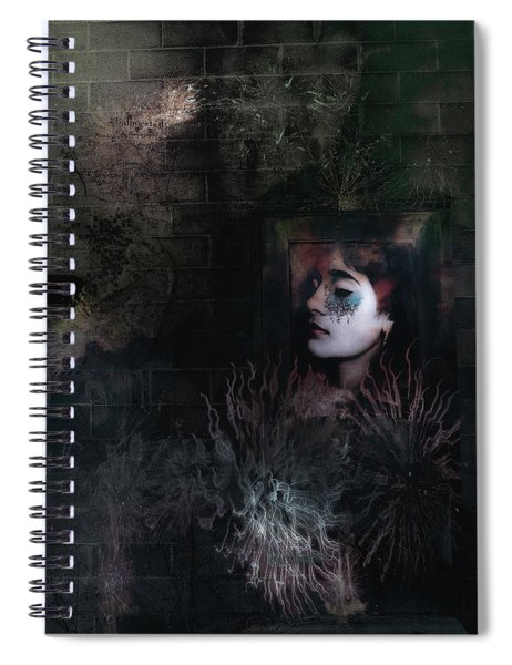 Face In The Door Spiral Notebook