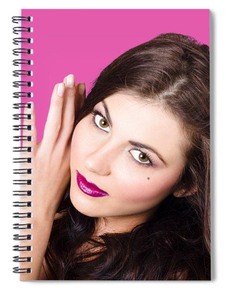 Face Of A Beautiful Woman. Perfect Beauty Makeup Spiral Notebook
