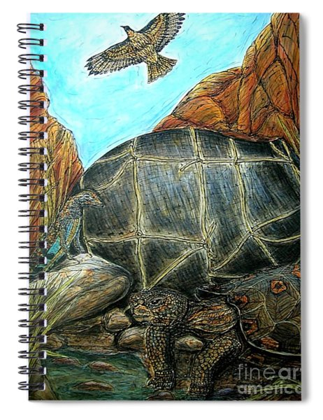 Face Off At The Waterhole Spiral Notebook