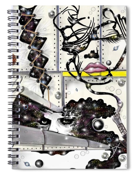 Faces In Space Spiral Notebook