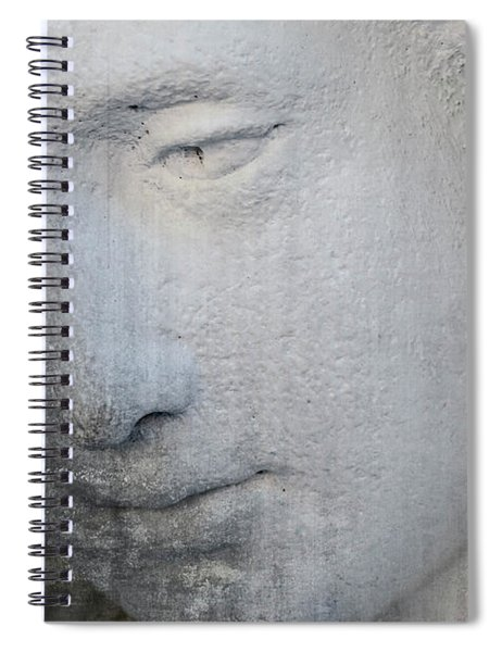 Faded Statue Spiral Notebook