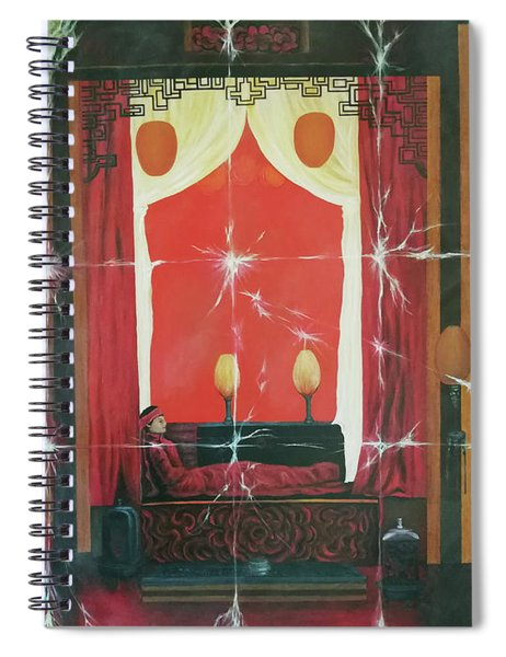 The Unfolded Fading Spiral Notebook
