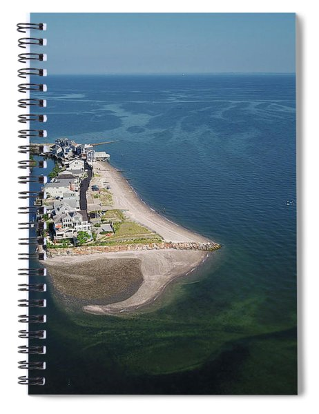 Fairfield Beach Aerial Photo Spiral Notebook