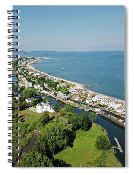 Fairfield Beach Road Aerial Spiral Notebook