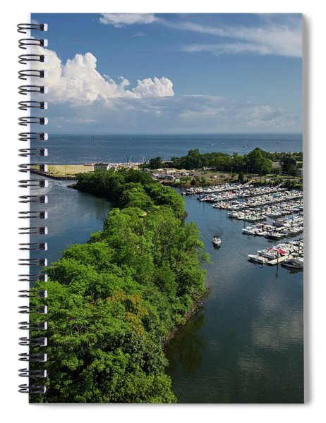 Fairfield Connecticut Marina Spiral Notebook