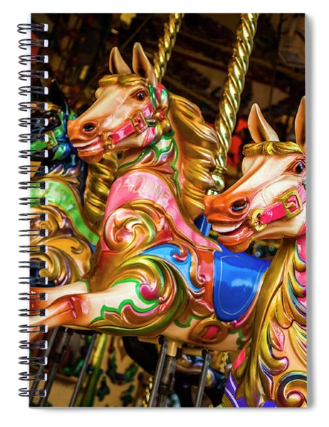 Fairground Carousel Horses Spiral Notebook