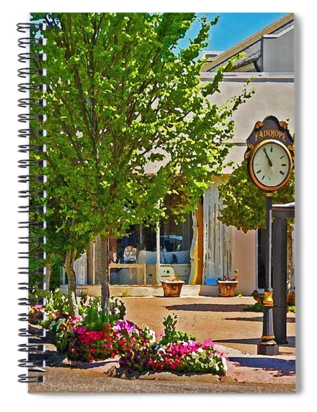 Fairhope Ave With Clock Looking North Up Section Street Spiral Notebook