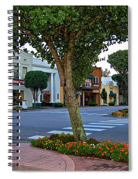 Fairhope Ave With Clock Spiral Notebook