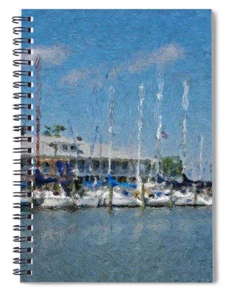 Fairhope Yacht Club Impression Spiral Notebook