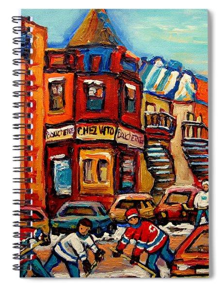 Fairmount Bagel With Hockey Spiral Notebook