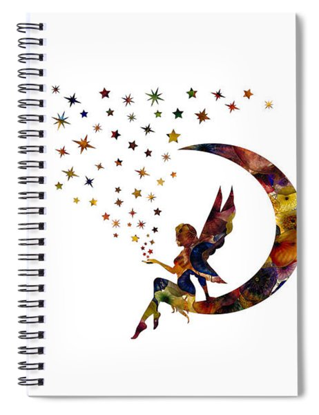 Fairy And Stars Spiral Notebook