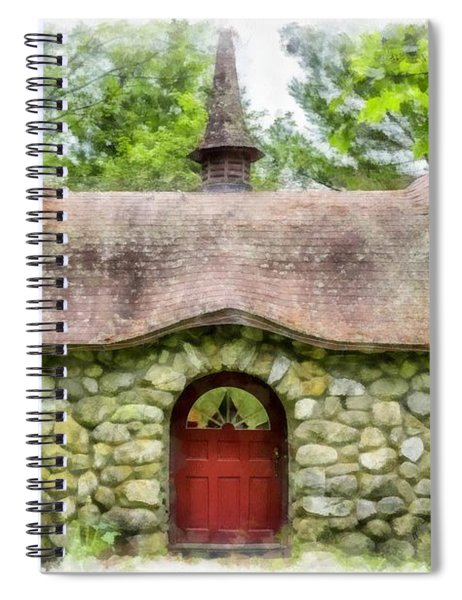 Fairy House Watercolor Spiral Notebook