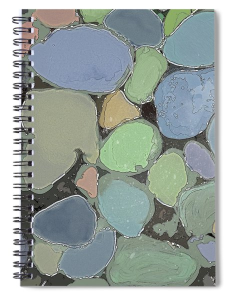 Spiral Notebook featuring the digital art Fairy Pool by Gina Harrison