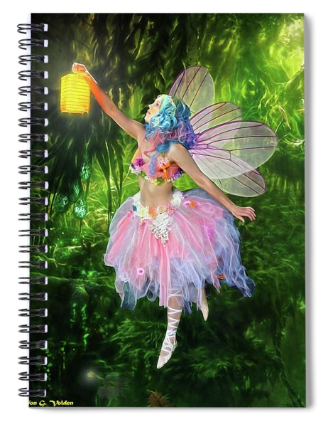 Fairy With Light Spiral Notebook