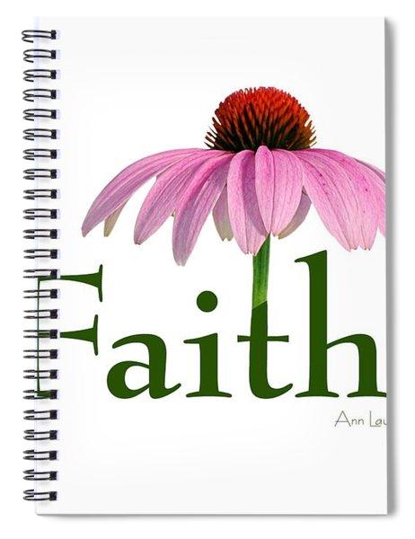Faith Coneflower Shirt Spiral Notebook