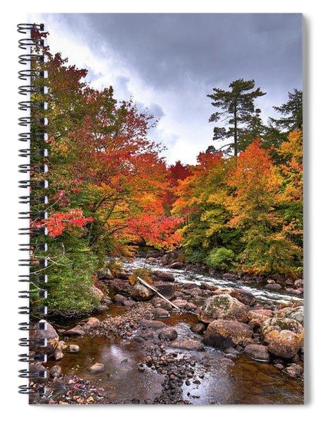 Fall At Indian Rapids Spiral Notebook