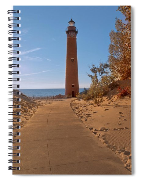 Fall At Little Point Sable Light Spiral Notebook