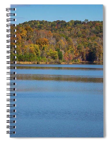 Fall Color At Lake Zwerner Spiral Notebook