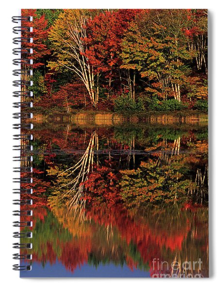 Fall Colored Trees Thornton Lake Upper Peninsula Michigan Spiral Notebook