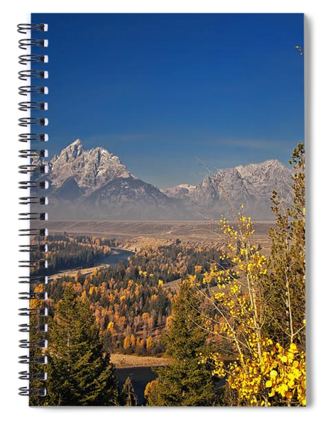 Fall Colors At The Snake River Overlook Spiral Notebook