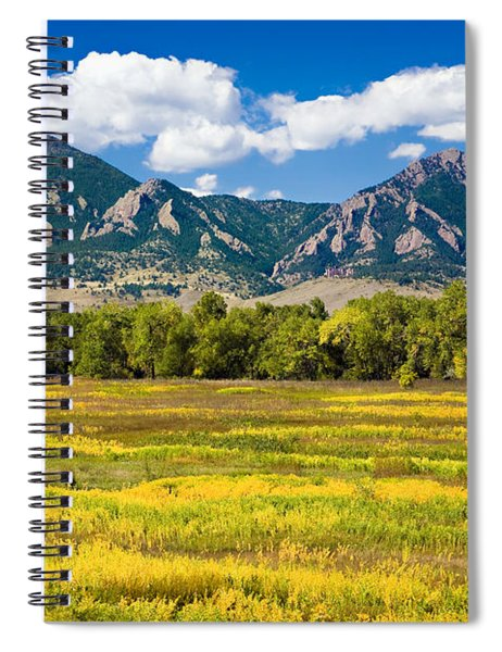 Fall Colors Of Boulder Colorado Spiral Notebook