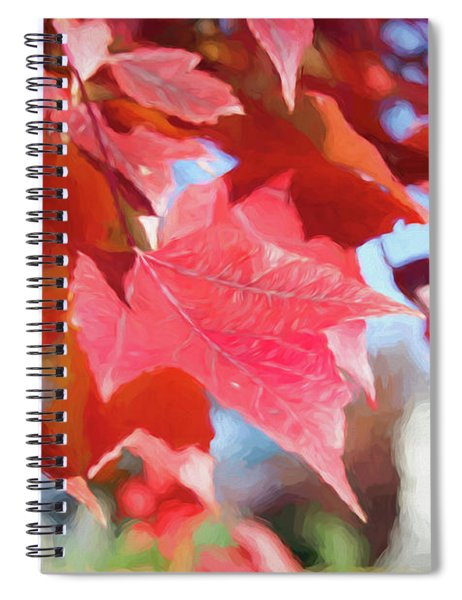 Fall Colors Oil Spiral Notebook