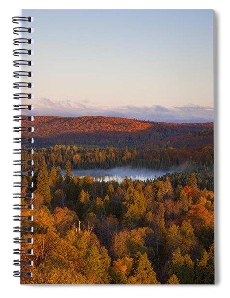 Fall Colors Orberg Mountain North Shore Minnesota Spiral Notebook