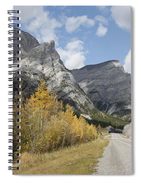 Fall Colours On Hwy #40 Kananaskis Spiral Notebook
