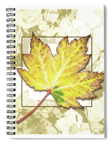 Fall Gold Spiral Notebook