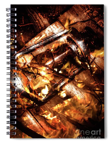Fall In Fire Spiral Notebook