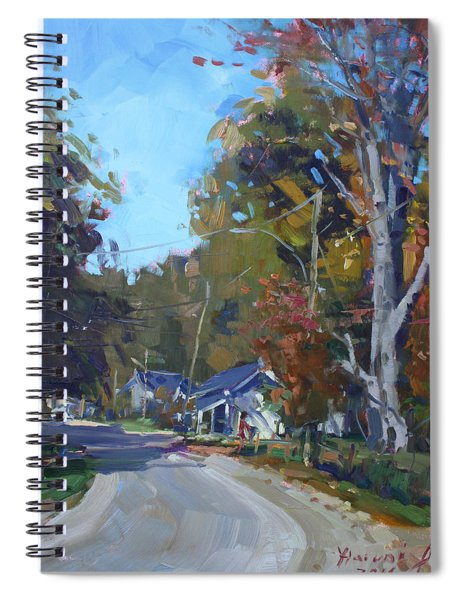 Fall In Glen Williams On Spiral Notebook