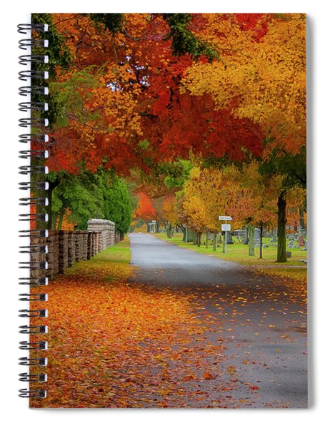Fall In The Cemetery Spiral Notebook