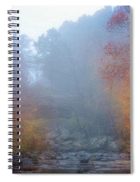Fall In The Fog Spiral Notebook