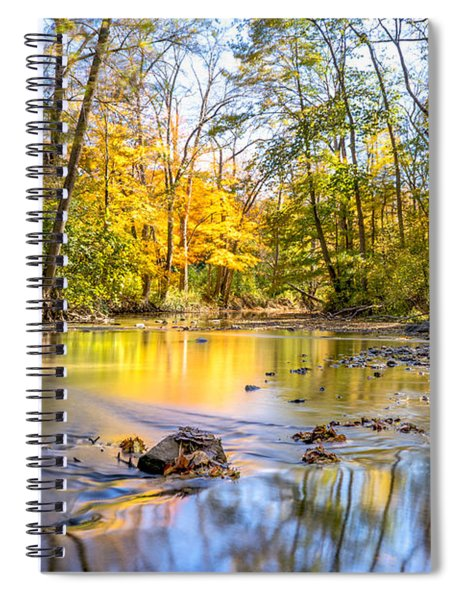 Fall In Wisconsin Spiral Notebook by Steven Santamour