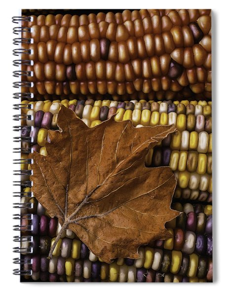 Fall Leaf And Indian Corn Spiral Notebook