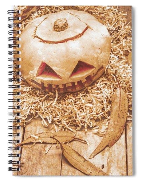 Fall Of Halloween Spiral Notebook