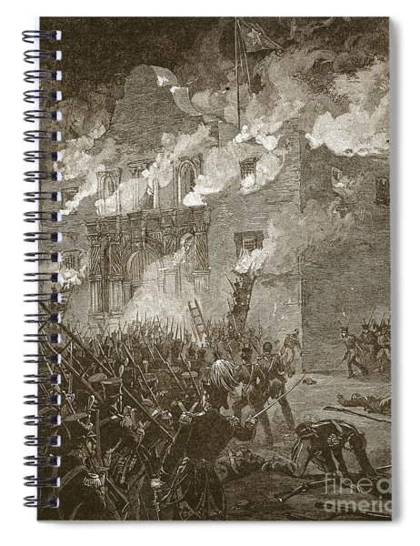 Fall Of The Alamo Spiral Notebook