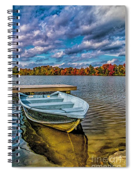 Fall On Alloway Lake Spiral Notebook
