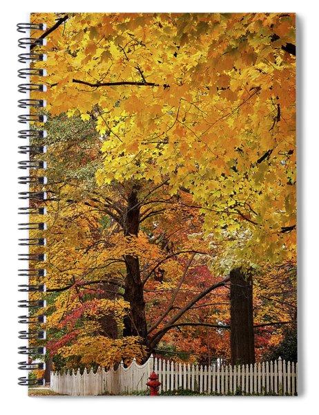 Fall On Hunter Street Spiral Notebook
