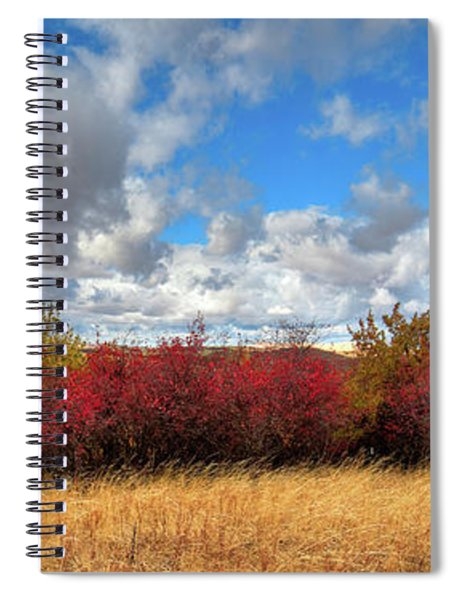 Fall On The Palouse Hills Spiral Notebook