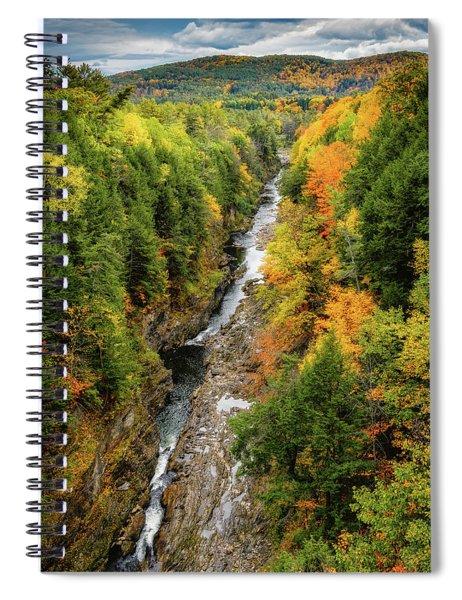 Fall Quechee Gorge, Vt Spiral Notebook