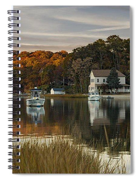 Fall Sunset In Centerport  Spiral Notebook