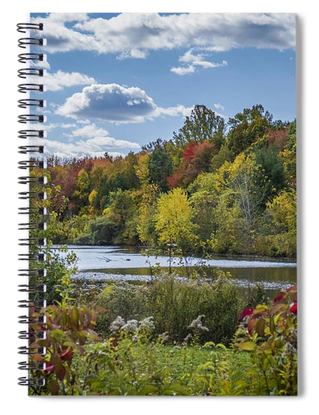 Fall Time On The Lake Spiral Notebook