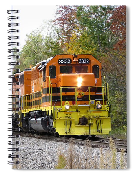 Fall Train In Color Spiral Notebook