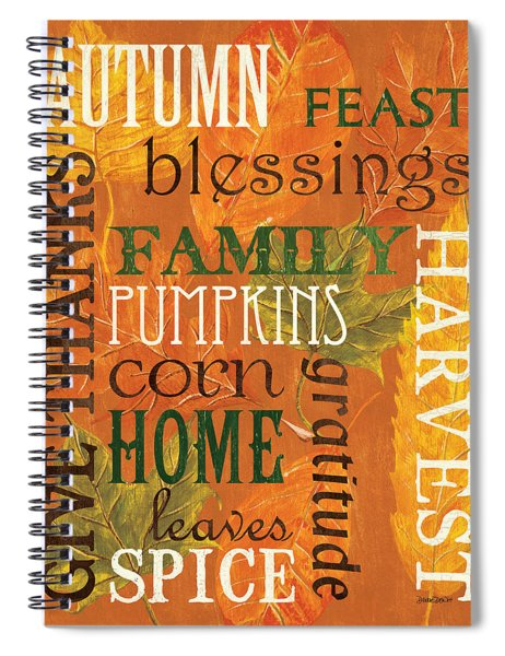 Fall Typography 1 Spiral Notebook