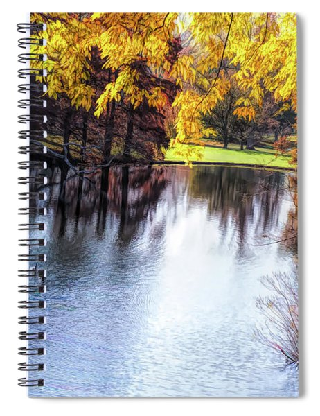Fall Yellow Boarder Spiral Notebook