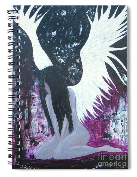Fallen Angel Spiral Notebook
