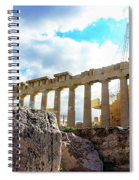 Fallen Columns In Front Of The Parthenon On The Athens Greece Acropolis Spiral Notebook